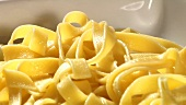 Cooked ribbon pasta