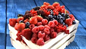 Assorted berries in a crate