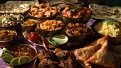 Various Indian dishes