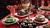 Christmas cake buffet