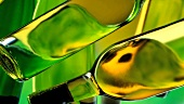 Green bottles (abstract)