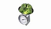 Broccoli on kitchen scales