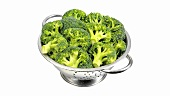 Broccoli in a colander