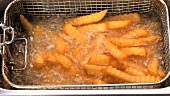 Deep-frying chips