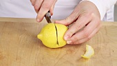 Halving a lemon