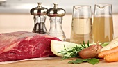 Ingredients for roast beef