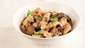 Chicken curry with baby aubergines
