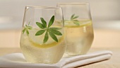 Two glasses of woodruff punch