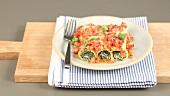 Cannelloni spinaci e ricotta (stuffed cannelloni, Italy)