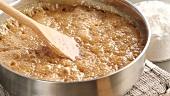 Boiling milk caramel