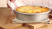 Freshly baked cottage pie