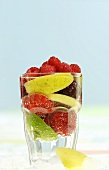 Fruits in glass of water