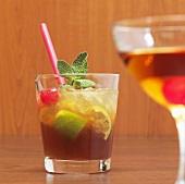 Mai Tai cocktail with straw