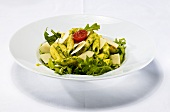 Penne with pesto, rocket and Parmesan