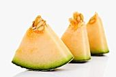 Pieces of Galia melon