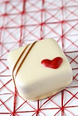 White chocolate for Valentine's Day
