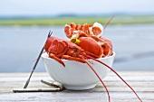 Bowl of Lobster Shells; Seaside
