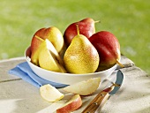 Several pears in dish