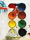 Box of watercolour paints