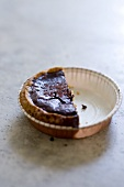 Chocolate tart, half eaten