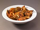 Bowl of Cioppino; Fish Stew