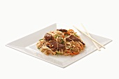 Nudeln mit Rindfleisch (Asien)