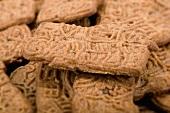 Brown Spekulatius cookies (full-frame)
