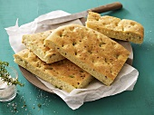 Focaccia with salt and thyme