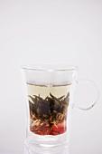 Tea with tea flower