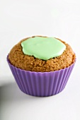 Cupcake with green icing