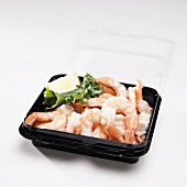 Cooked Shrimp in To Go Container