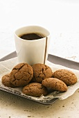 Treacle biscuits and coffee