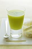 A glass of kiwi fruit juice