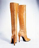 Skin-Colours, Langschaft-Stiefel mit Superhohem Absatz,Nappaleder