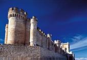 View of Penafiel Castle in wine growing region, Valladolid, Spain