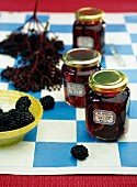 Blackberry and elderberry jelly with lemongrass