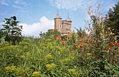 View of Sissinghurst Castle and garden, Kent, UK