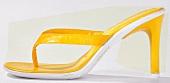 Gelbe Zehen - Sandalette mit hohem Absatz