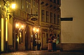 Viennese pub at night