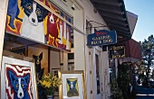 """Exterior view of """"Gallery Blue Dog"""" in Carmel-by-the-Sea, California, US"""