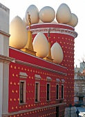 Exterior of Dali Theatre and Museum in Catalonia, Spain