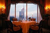 View of well arranged dinning table in Shangri-La hotels and resorts, Hong Kong, China