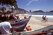 Fishing boats at Copacabana, Brazil