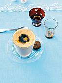 Espresso parfait with tow glasses