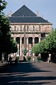Facade of The Theatre Place Broglie in sunshine, Strasbourg, France