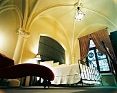 Bedroom of Dylan Hotel in Manhattan, New York, USA