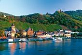 Bernkastel-Kues mit Burg Landshut und Weinberg Lage Doctorberg