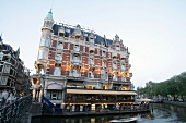 View of Hotel de l'Europe in Amsterdam, Netherlands