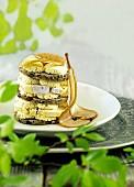 Tiramisu made with pear bread and brie