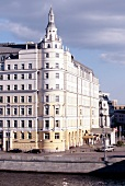 Exterior of Baltschug Kempinski Hotel near Moskva river, Moscow, Russia